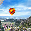 Lanscape Of Mountain And Balloon by Anek Suwannaphoom