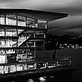 late evening at the Vancouver convention centre west building on burrard inlet BC Canada by Joe Fox
