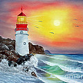 Ilona Tigges - Goetze - Lighthouse in the surf