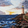 Lee Piper - LIghthouse Road At Sunset