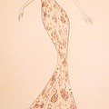 Mandarin Damask Gown by Christine Corretti