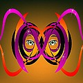 MM Anderson - Mask in Purple and Orange