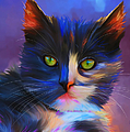 Michelle Wrighton - Meesha Colorful Cat...
