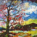 Ginette Fine Art LLC Ginette Callaway - Modern Art Autumn Tree...