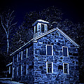 Moonlight On The Old Stone Building  by Edward Fielding