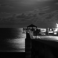 Laura  Fasulo - Moonlit Pier Black And...