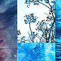 Ann Powell - Nature Collage with Blue