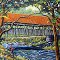 New England Covered Bridge By Prankearts by Richard T Pranke