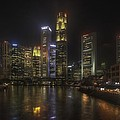 Lim Zhimin - Night view of Boat Quay