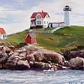 Nubble Lighthouse In Pastel by Jack Skinner
