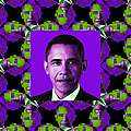 Obama Abstract Window 20130202m88 by Wingsdomain Art and Photography