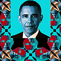 Obama Abstract Window 20130202verticalm180 by Wingsdomain Art and Photography