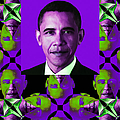 Obama Abstract Window 20130202verticalm88 by Wingsdomain Art and Photography