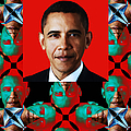 Obama Abstract Window 20130202verticalp0 by Wingsdomain Art and Photography