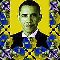 Obama Abstract Window 20130202verticalp55 by Wingsdomain Art and Photography