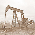 James Granberry - Oil Pump In Sepia
