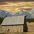 Randall Branham - Old Barn and Mountains