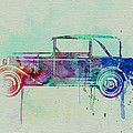 Old Car Watercolor by Naxart Studio