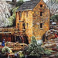 Glenn Beasley - Old Mill in Winter