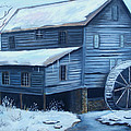Glenda Barrett - Old snow covered Mill