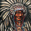 Ruben  Archuleta - Art Gallery - Old Warrior Chief