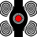 Drinka Mercep - Op Art Black White Red...