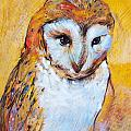 Tonja  Sell - Owl Study in Ochre