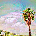 Lyn Voytershark - Palm Tree Against Pastel...
