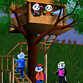 Jeanette Kabat - Panda Bear Tree House