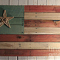 John Turek - Patriotic Wood Flag