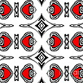 Drinka Mercep - Pattern Black White Red...