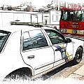 Philadelphia Police Car Print by Fiona Messenger