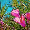 Lyn Voytershark - Pink Tropical Flower...