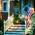 Susan Savad - Porch With American Flag