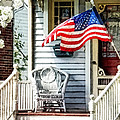 Susan Savad - Porch With Flag and...