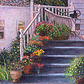 Susan Savad - Porch with Watering Cans