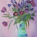 Asha Carolyn Young - Purple Belle Bouquet ...