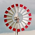 Cynthia Guinn - Red and White Windmill