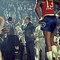 Red Auerbach Talks With Ref by Retro Images Archive