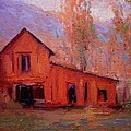 R W Goetting - Red barn at sunrise
