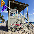 Debra and Dave Vanderlaan - Red Bike at the Beach