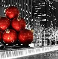 Living Color Photography Lorraine Lynch - Red Large Ornaments In...