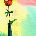 Red Rose 1 by Anil Nene