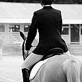 Jennifer Lyon - Rider in Black and White