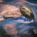 F Leblanc - Rushing Water Painting