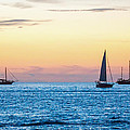 Photographic Arts And Design Studio - Sailboats at Sunset off...