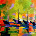 Helena Wierzbicki - Sailing boats by the...