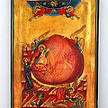 Saint Prophet Elias Hand Painted Russian Byzantine Icon  by Denise Clemenco