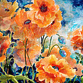 Kathy Braud - September Orange Poppies...