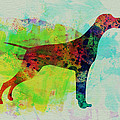 Setter Pointer Watercolor by Naxart Studio